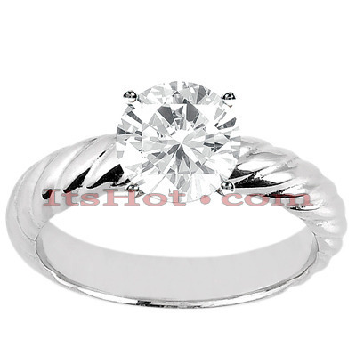 14K Solitaire Diamond Engagement Ring 0.50ct Main Image