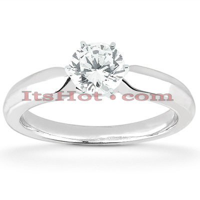 14K Solitaire Diamond Engagement Ring 0.50ct 3mm Main Image
