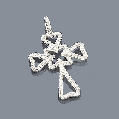 14K Unique Diamond Cross Pendant 0.34ct Main Image