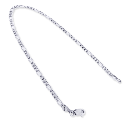 14K White Gold Figaro Chain Bracelet 5.5mm 7.5-9in 14k-white-gold-figaro-chain-bracelet-55mm-75-9in_1
