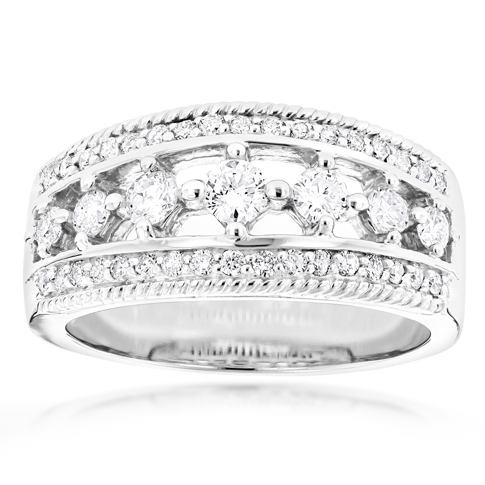 14K Womens Diamond Wedding Ring 1.54ct White Image