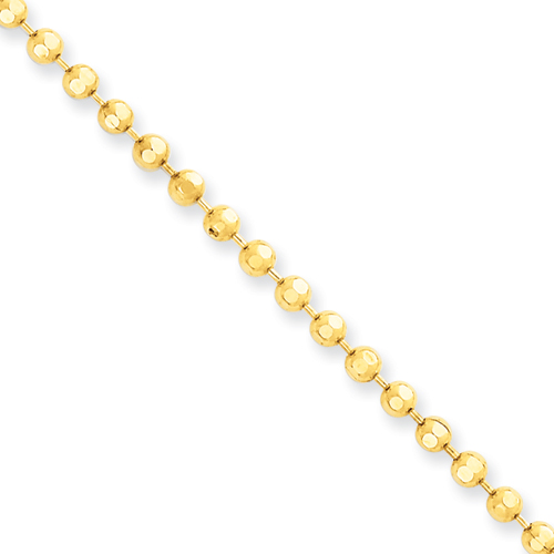 14K Yellow Gold Ball / Combat / Dog Tag Chain 3mm 24-40in 14k-yellow-gold-ball-combat-dog-tag-chain-3mm-24-40in_1