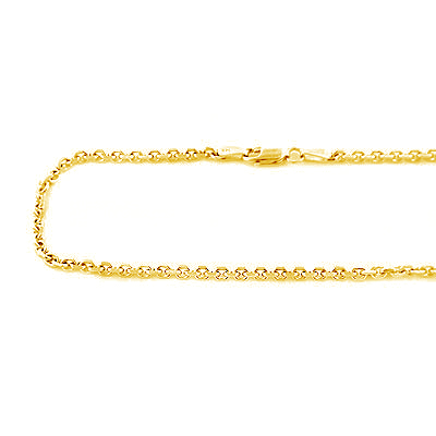 14K Yellow Gold Cable Chain for Men 20-40in 2mm  14k-yellow-gold-cable-chain-20-40in-2mm_1