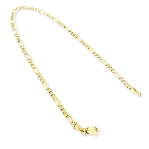 14K Yellow Gold Figaro Chain Bracelet 5.5mm 7.5-9in 14k-yellow-gold-figaro-chain-bracelet-55mm-75-9in_1