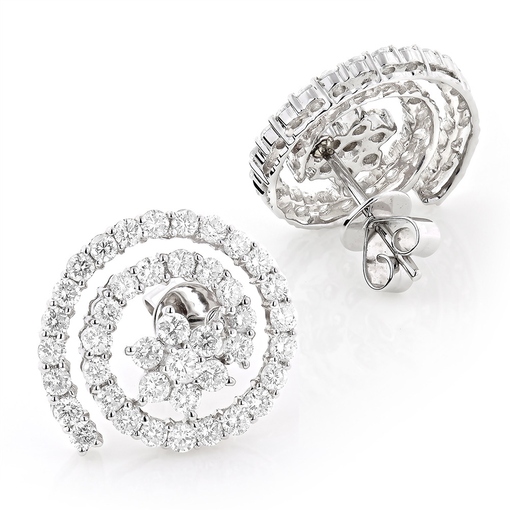 tw mulia gold white diamond wear earrings mg in heart duo