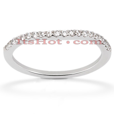 Ultra Thin 18K Gold Diamond Engagement Band 0.11ct