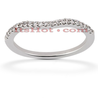 Ultra Thin 18K Gold Diamond Engagement Band 0.16ct Main Image