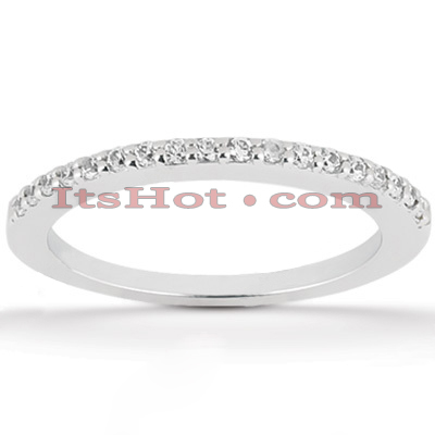 Ultra Thin 18K Gold Diamond Engagement Band 0.18ct Main Image