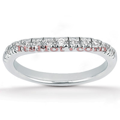 Thin 18K Gold Diamond Engagement Band 0.30ct Main Image