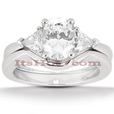 18K Gold Diamond Engagement Mounting Set 0.50ct Main Image
