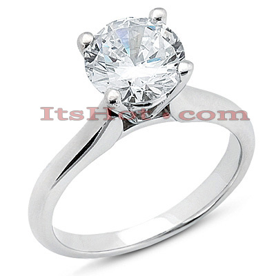 18K Gold Diamond Engagement Ring 0.75ct 2.2mm Main Image