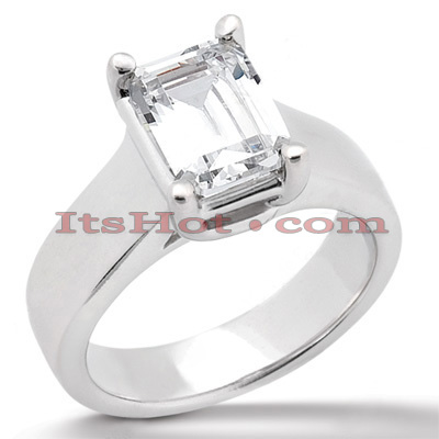18K Gold Diamond Engagement Ring 0.75ct 3.8mm Main Image