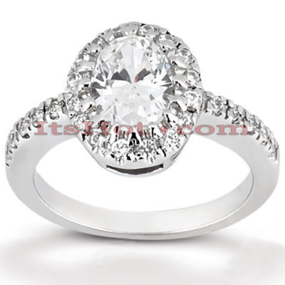 18K Gold Diamond Engagement Ring 1.01ct 2mm Main Image