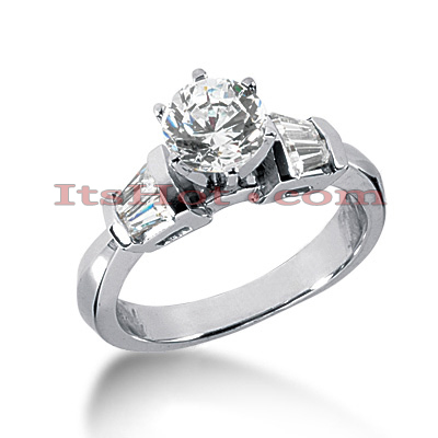 18K Gold Diamond Engagement Ring 1.03ct Main Image