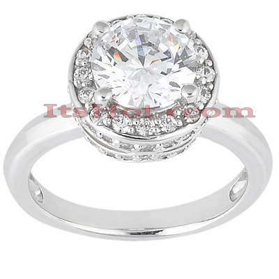 18K Gold Diamond Engagement Ring 1.09ct Main Image
