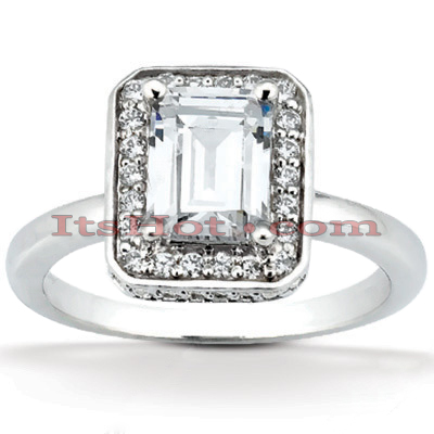 18K Gold Diamond Engagement Ring 1.11ct 2.65mm Main Image
