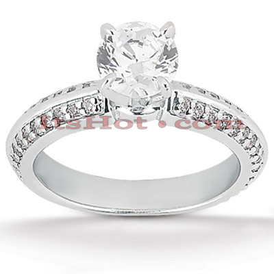18K Gold Diamond Engagement Ring 1.13ct Main Image