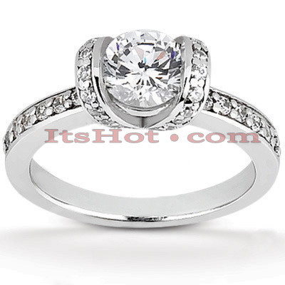 18K Gold Diamond Engagement Ring 1.18ct Main Image