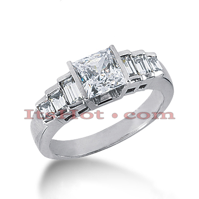 18K Gold Diamond Engagement Ring 1.21ct Main Image