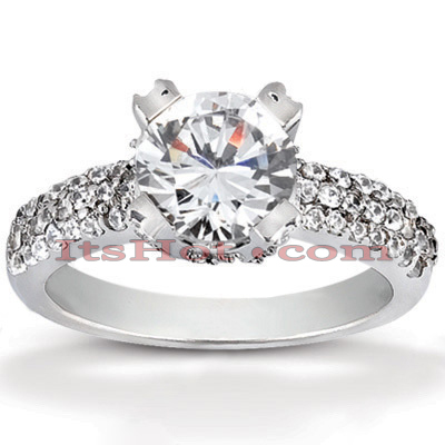 18K Gold Diamond Engagement Ring 1.34ct Main Image
