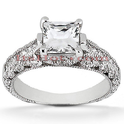 18K Gold Diamond Engagement Ring 1.39ct 3.72mm Main Image