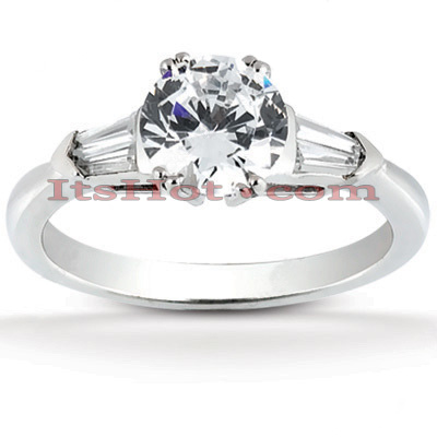 18K Gold Diamond Engagement Ring Mounting 0.32ct Main Image