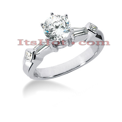 18K Gold Diamond Engagement Ring Mounting 0.42ct Main Image