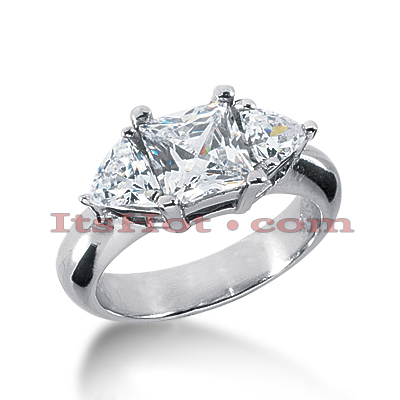 18K Gold Diamond Engagement Ring Mounting 0.70ct Main Image