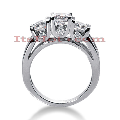 18K Gold Diamond Engagement Ring Mounting 1.89ct Main Image