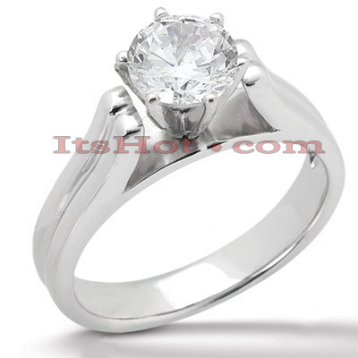 18K Gold Diamond Engagement Ring Mounting Main Image
