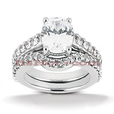 18K Gold Diamond Engagement Ring Mounting Set 0.56ct Main Image