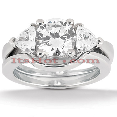 18K Gold Diamond Engagement Ring Set 0.80ct Main Image