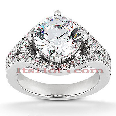 18K Gold Diamond Engagement Ring Setting 0.37ct