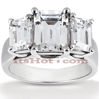18K Gold Diamond Engagement Ring Setting 0.50ct Main Image
