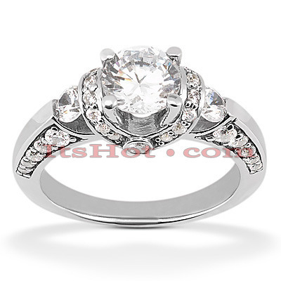 18K Gold Diamond Engagement Ring Setting 0.60ct Main Image