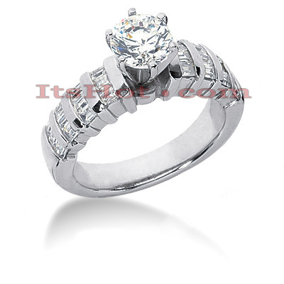 18K Gold Diamond Engagement Ring Setting 0.72ct Main Image