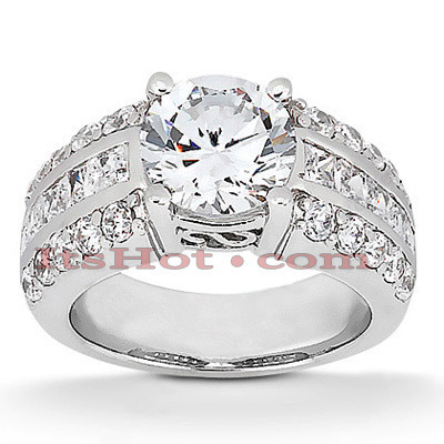 18K Gold Diamond Engagement Ring Setting 0.88ct Main Image