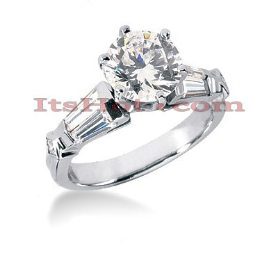 18K Gold Diamond Engagement Ring Setting 0.90ct Main Image