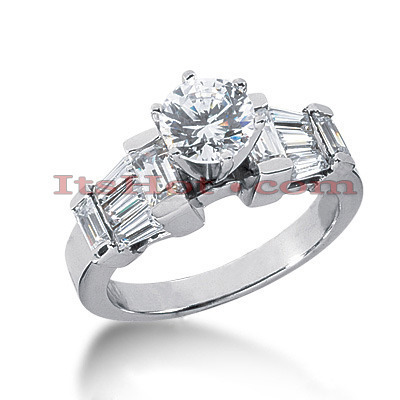 18K Gold Diamond Engagement Ring Setting 1.12ct Main Image