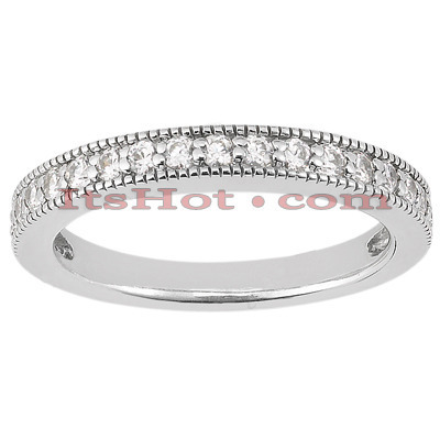 Thin 18K Gold Diamond Engagement Wedding Ring 0.23ct Main Image