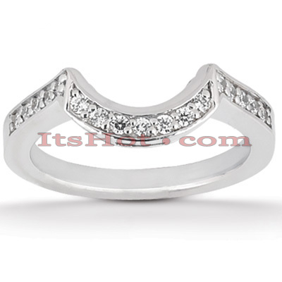 Thin 18K Gold Diamond Engagement Wedding Ring 0.24ct Main Image