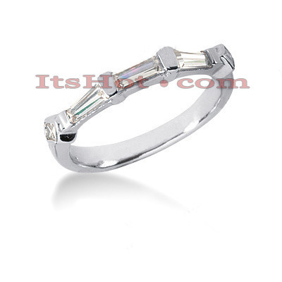 Ultra Thin 18K Gold Diamond Engagement Wedding Ring 0.72ct Main Image