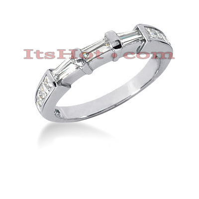 Thin 18K Gold Diamond Engagement Wedding Ring 0.82ct Main Image