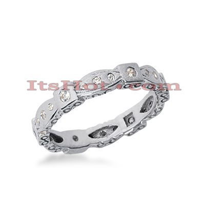 18K Gold Diamond Eternity Band 0.24ct Main Image