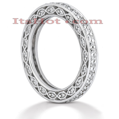 Thin 18K Gold Diamond Eternity Band 0.63ct Main Image
