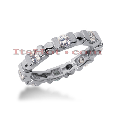 18K Gold Diamond Eternity Band 0.80ct Main Image