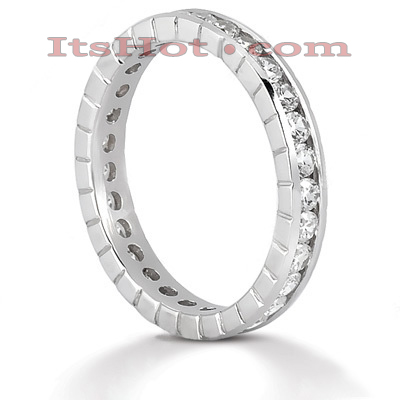 Thin 18K Gold Diamond Eternity Band 0.84ct Main Image