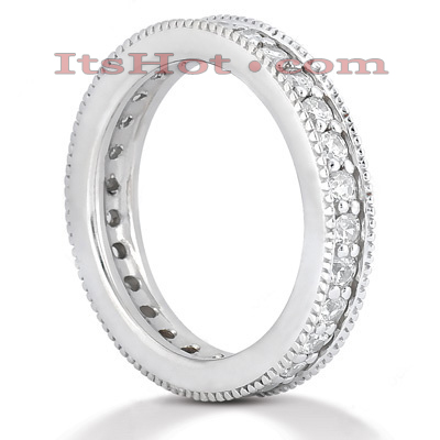 18K Gold Diamond Eternity Band 0.84ct