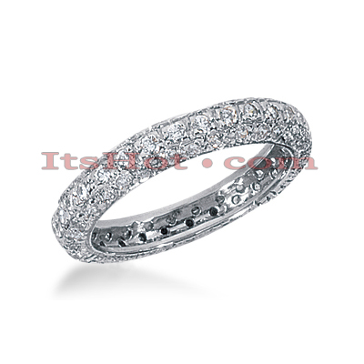 18K Gold Diamond Eternity Band 0.90ct Main Image