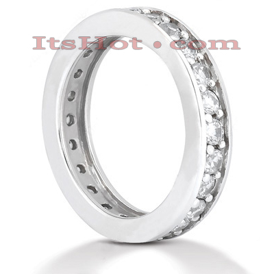 18K Gold Diamond Eternity Band 1.20ct Main Image